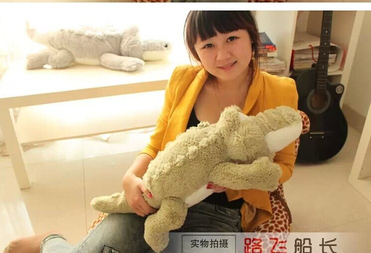 lovely plush green crocodile toy stuffed cartoon Chinese alligator pillow birthday gift about 65cm(China (Mainland))