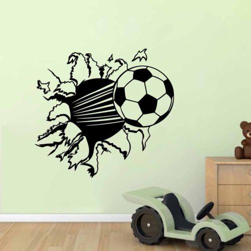 Calcio wall sticker decal decor sport calcio ragazzo camera dei ...