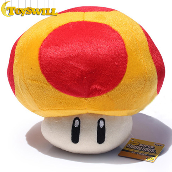 """NEW 1 Piece Super Mario 7.87"""" Mushroom Toad Plush Toy 20cm Stuffed Animal Doll Baby Toy Red and yellow TW23652(China (Mainland))"""