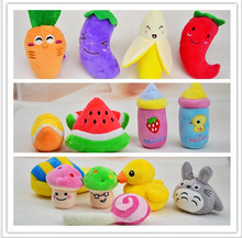 2016 New Hot Dog Toys Pet Puppy Chew Squeaker Squeaky Plush Sound15 Designs Toys products Pet Toys