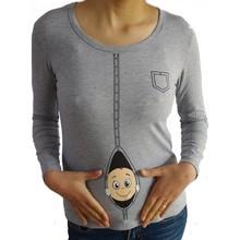 Funny and Cute Long sleeves Casual Maternity Shirt Printed maternity sweatshirt plus size XXL(China (Mainland))
