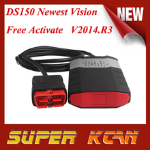Free Shipping ds150 Newest Vision V2014.R3 cdp pro ds150 + free activated cdp ds 150e without bluetooth tcs cdp new vci ds150e(China (Mainland))