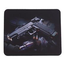Gun Picture Anti-Slip Lap PC Mice Pad Mat Mousepad For Optical Laser Mouse Wholesale(China (Mainland))