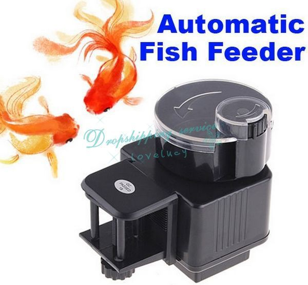 New automatic fish tank food feeder timer aquarium drop for Automatic fish tank feeder