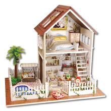 Кукольный дом мебель миниатюрный кукольный домик миниатюре diy кукольные домики деревянные игрушки ручной работы для детей подарок на день рождения A-025