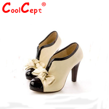 Size 34-43 hot sale women  high heel shoes quality lady bowknot  sexy fashion platform heeled footwear heels brand shoes H023(China (Mainland))