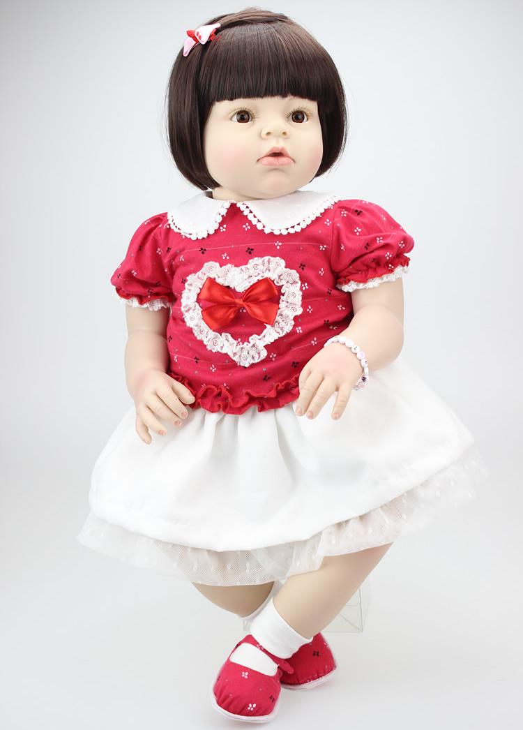 Doll Baby Toys 22 Inch Silicone Reborn Baby Girl Doll Lifelike Doll Reborn Babies Handmade Princess Doll For Girl Christmas Gift