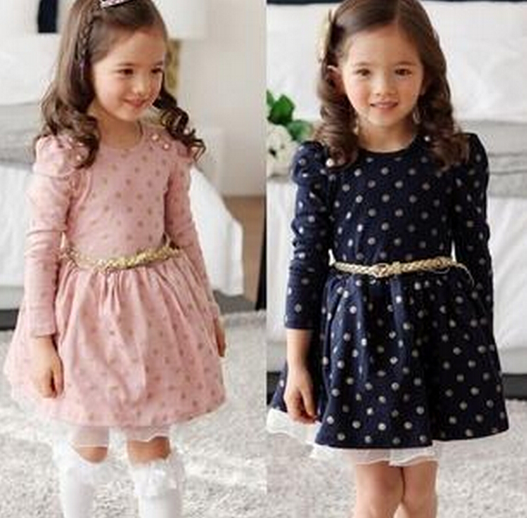 Quality 2016 new Girls dresses for baby children Purple pink roses New Year princess Toddler Girl Dress, Kid Brand clothes(China (Mainland))