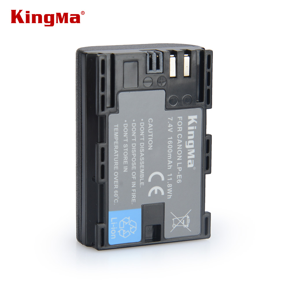 KingMa Original LP-E6 LP E6 LPE6 Rechargeable Camera Battery Pack For Canon 5D2 5D3 5D 7D 6D 40D 70D 60D 600D Mark II III 2 3 <br><br>Aliexpress