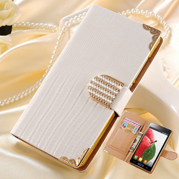 New 2015 Wallet Style Bling PU Leather Case for LG Optimus L7 II 2 P710 P715 Shining Crystal Rhinestone Phone Cover(China (Mainland))