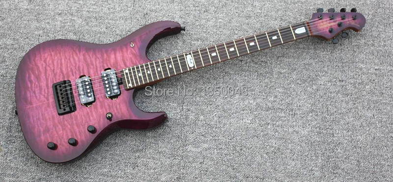 JP100 Beautifully MUSIC man burgundy guitar electric can customized real picture - Electric bass monopoly gangge store