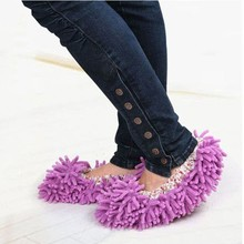 Buy Hot Sales 1pair Dust Cleaner Grazing Slippers House Bathroom Floor Cleaning Mop Cleaner Slipper Lazy Shoes Cover Microfiber 5076 for $2.09 in AliExpress store