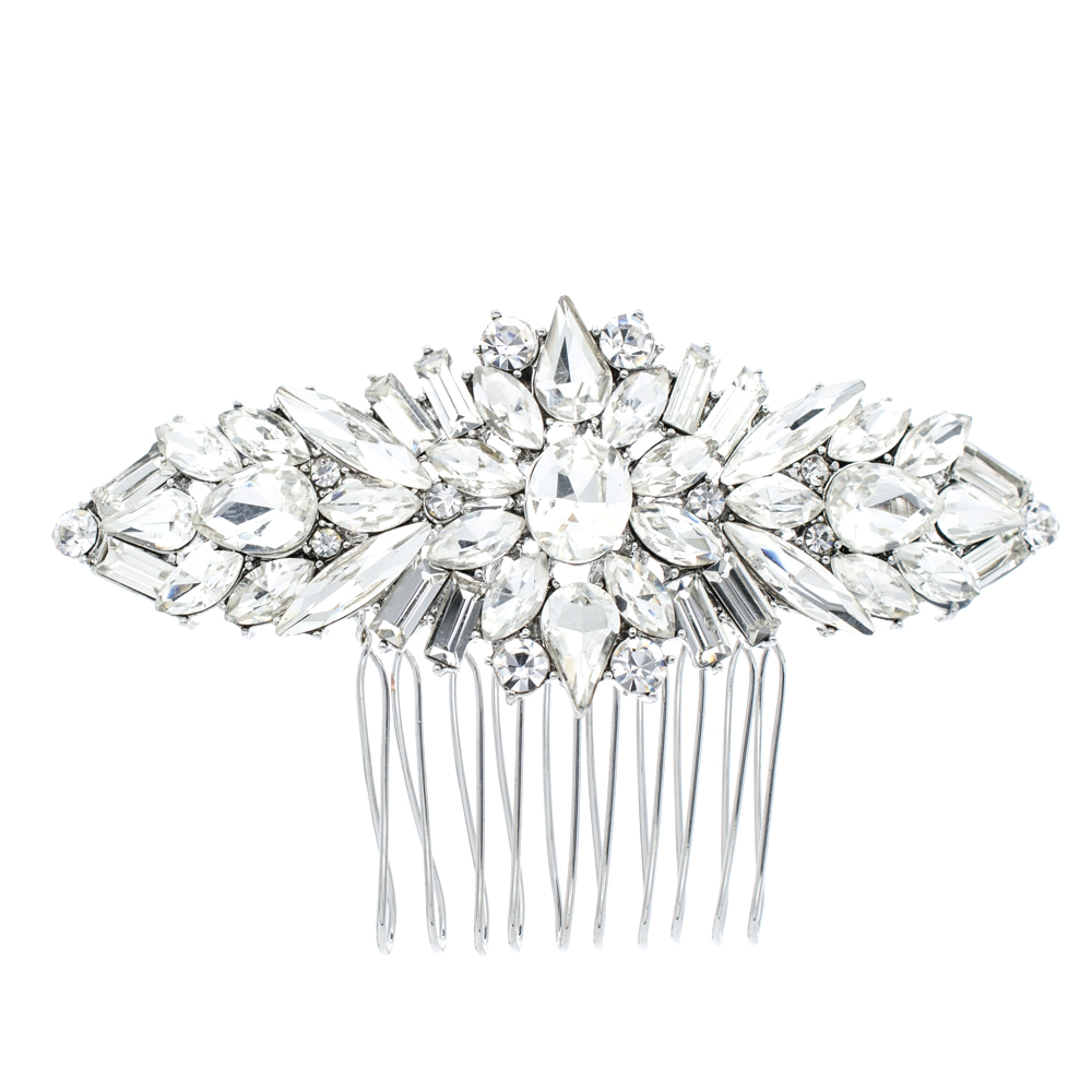 Crystals Rhinestone Hair Comb Women Hairpins Bridal Wedding Hair Jewelry Accessories Pageant Headpiece 4364(China (Mainland))