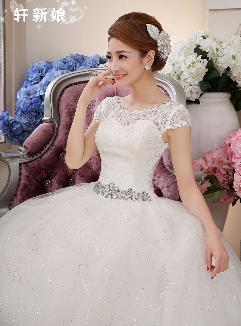 2015 the latest sweet princess that wipe a bosom to diamond only beautiful wedding dress lace-up trials pay022(China (Mainland))