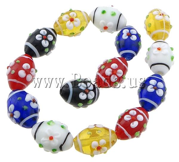 Free shipping!!!Bumpy Lampwork Beads,Love, Oval, multi-colored, 20x15mm, Hole:Approx 2mm, Length:11 Inch, 10Strands/Lot