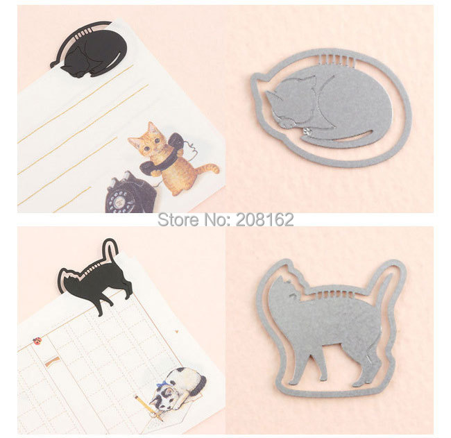 Cute cat Bookmark Kitty Metal Book Mark Wedding Favors and Classmate Gifts SQ14070309 (mix order 10 usd)(China (Mainland))