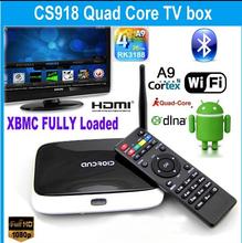 Оригинальный Android 4.4 смартфон TV Box Q7 CS918 Full HD 1080 P RK3188T четырехъядерных процессоров медиа-плеер 1 г / 8 г XBMC wi-fi антенны дистанционного управления