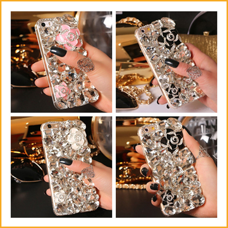 Luxury 3D Bling Crystal Rhinestone Hard Back Cover Cases For iphone 6S 6 Plus 5C SE 5S 5 Cellphones Diamond Shells XY3622(China (Mainland))