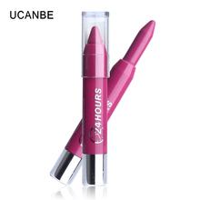 New Arrival 1PCS 14 Colors Matte Lipstick Moisturizing Lip Balm Makeup 24 Hours Long Lasting Waterproof Bitten Kissable Lips(China (Mainland))