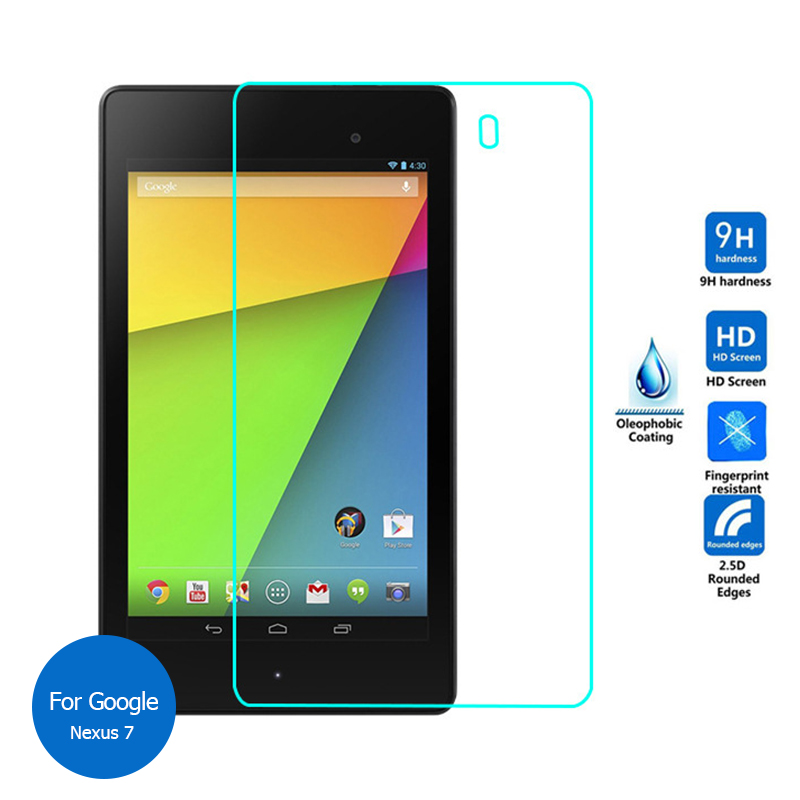 For Google Nexus 7 2nd Gen 2013 Tempered Glass Screen Protector Cover 9h Safety Protective Film on Nexus7 2012(China (Mainland))