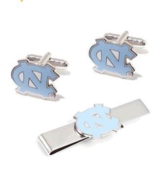CF0774 NCAA Mens University Of North Carolina Tarheels And tie bar Clip Gift Set Free Ship For Men Shirt accessories(China (Mainland))