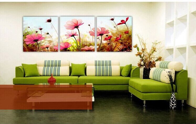 Modern pink flower painting home decor canvas painting wall pictures for living room free - Home decor promo code paint ...