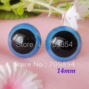 Toy findings 14mm blue color toy eye for animal toy plush bear doll accessories with washers/#B4O