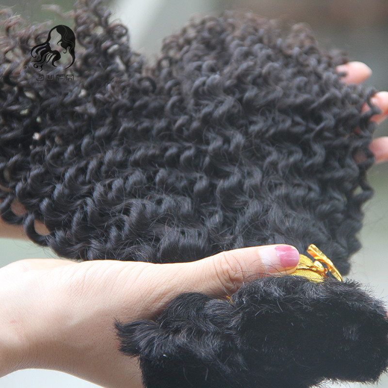 Wholesale Human hair bulk.In factory price brazilian afro kinky bulk hair for braiding human braiding hair 1pcs lot no weft