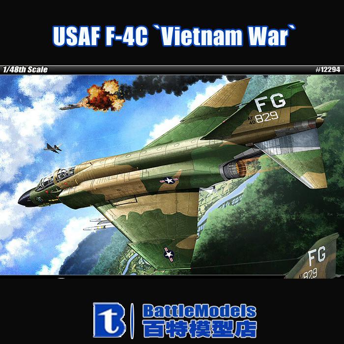 Academy MODEL 1/48 SCALE Assembled military models #12294 USAF F-4C `Vietnam War` plastic model kit<br><br>Aliexpress