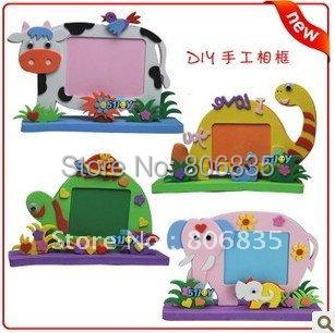 DIY Creative children photo frame,DIY stereo EVA puzzles,EVA animal photo frame,creative toy,Parent-child handmade projects(China (Mainland))