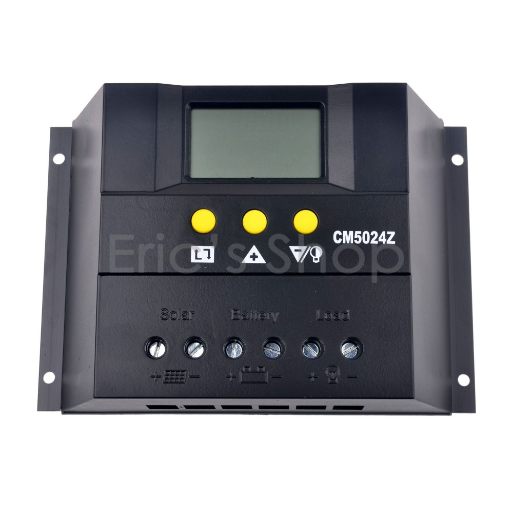 50A Solar Charge Controller 50A 12V/24VDC ATUO Solar Panel Battery Regulator PWM 50A Solar Controller(China (Mainland))