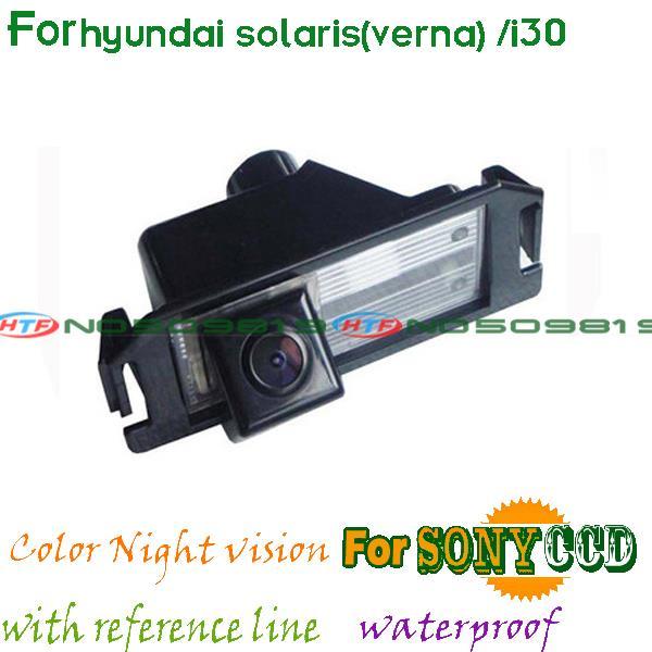 wireless wire CCD CAR REAR VIEW REVERSE CAMERA FOR SONY HD hyundai solaris(verna) hatchback hyundai i30 Parking Assistant(China (Mainland))