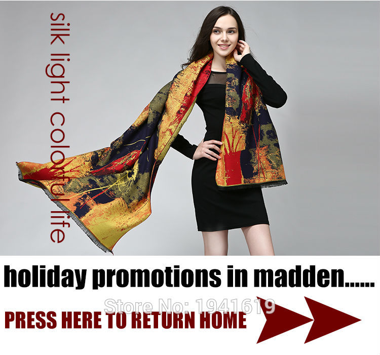 high quality  long silk scarf women scarf shawl  brand designer scarf chinese style Digital printing shawl fashion scarves-b163