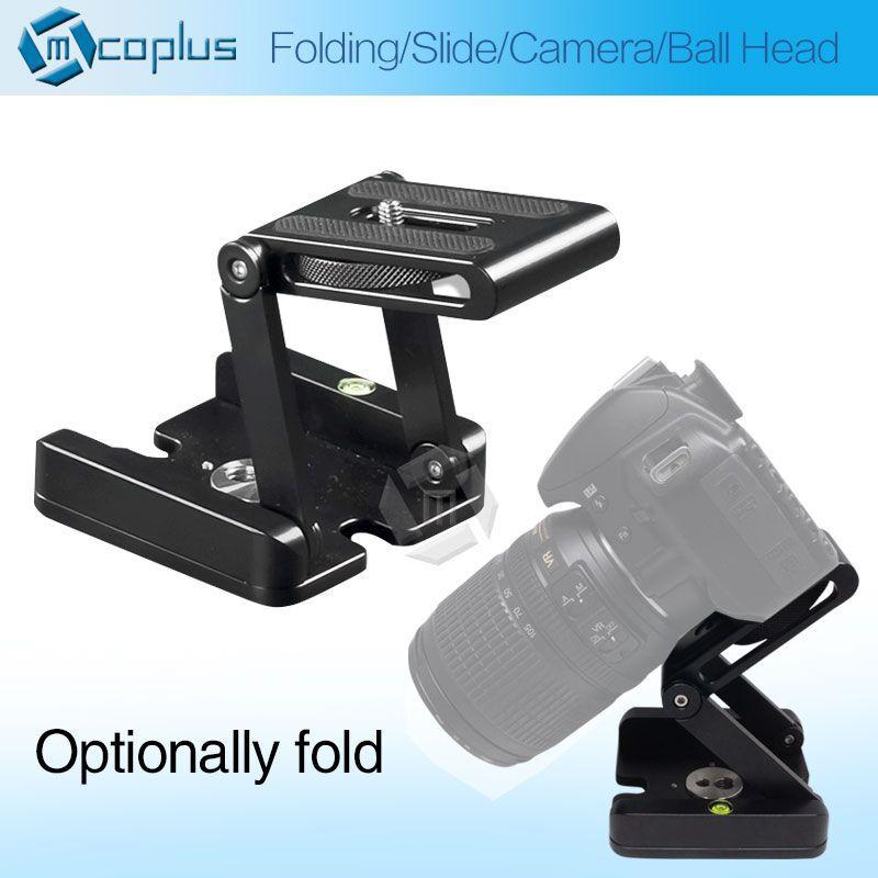 "Mcoplus Latest Aluminum Foldable Camera Tripod Ball Head Ballhead with Quick Release Plate 1/4"" 3/8'' Screw Max Load 3KG(China (Mainland))"