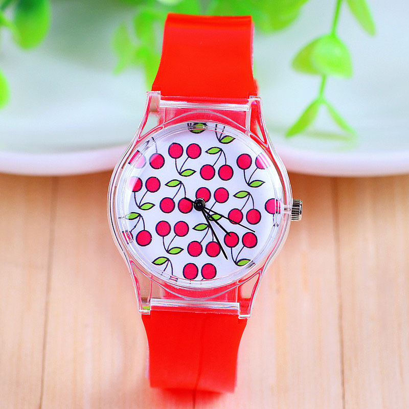 New Arrival Jelly Silicone Watch Cherry Fruit Quartz Watch Plastic Women Dress Watch Red Color 1piece/lot BW-SB-740<br><br>Aliexpress