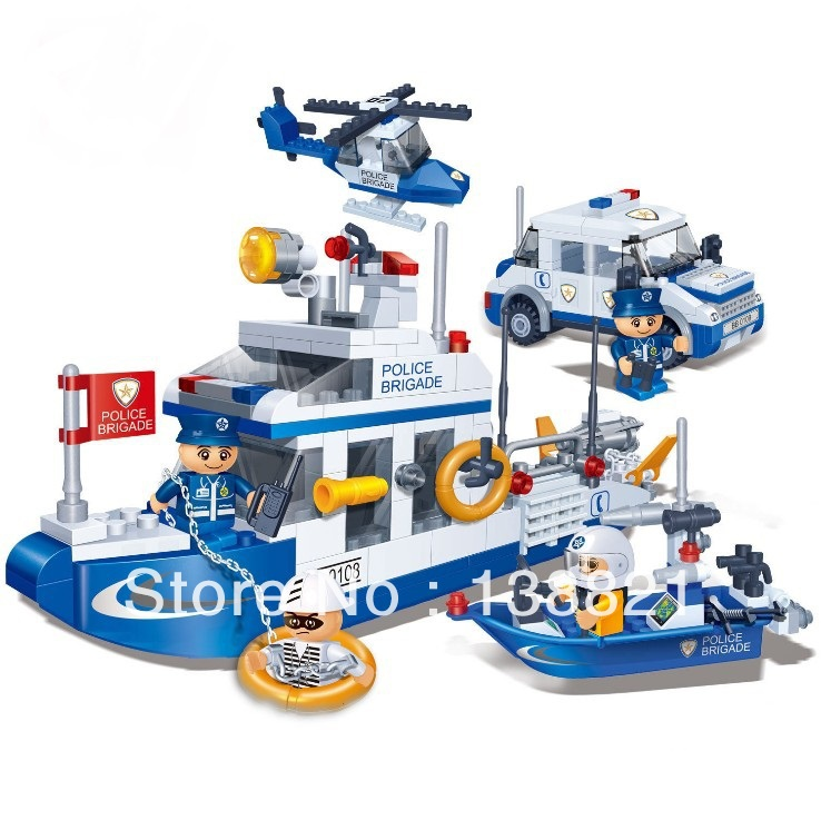 Educational Toys children DIY Building blocks coast guard water police self-locking bricks Compatible Lego - zhichao shaw's store