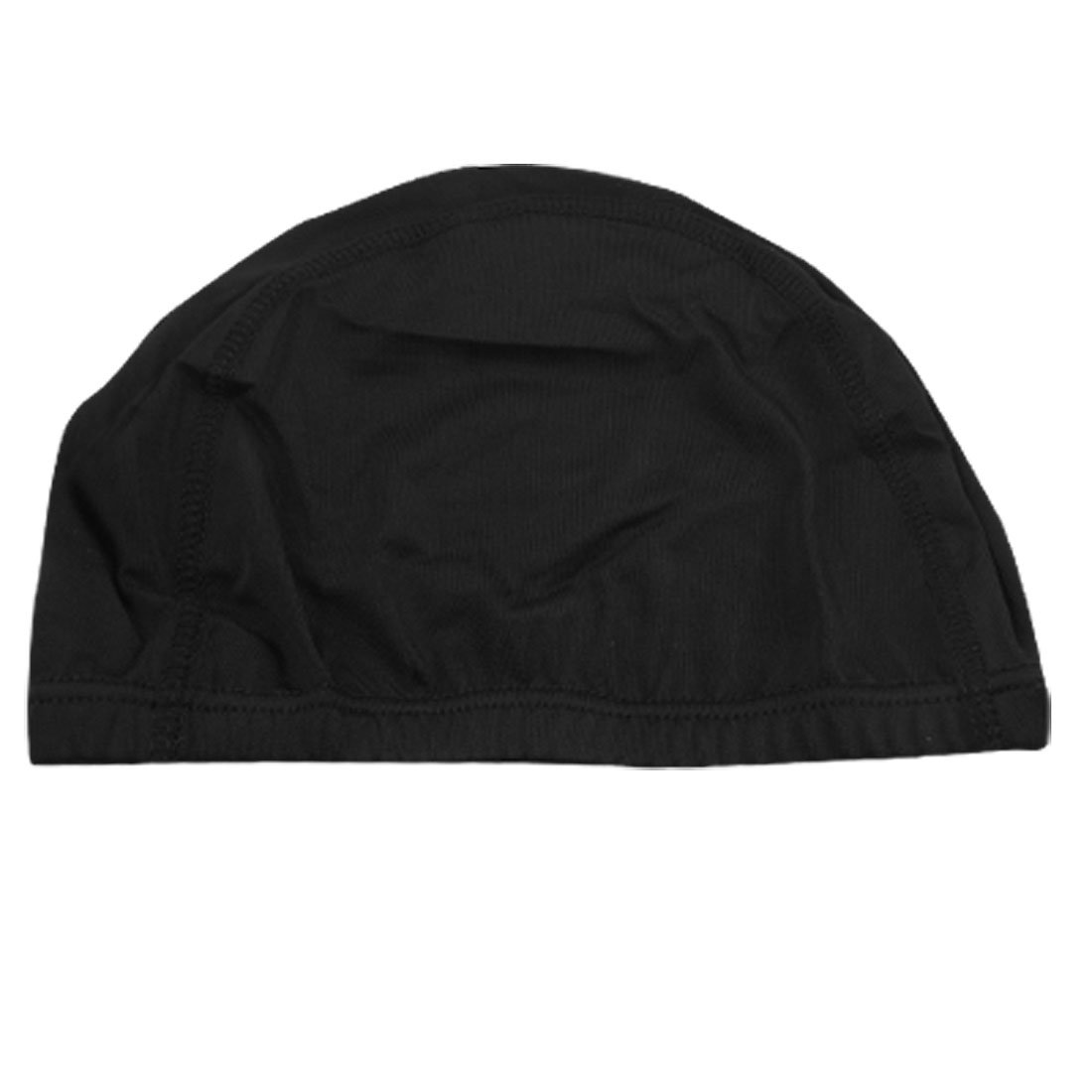 Woman Man Polyester Elastic Swimming Bathing Hat Cap Black,Free Shipping(China (Mainland))