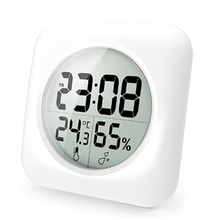 Baldr Waterproof LCD Digital Clock Time Temperature Humidity Display Watch Bathroom Kitchen Wall Mirror Suction Cup Shower Clock(China (Mainland))