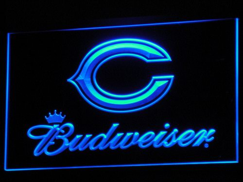 b271 Chicago Bears Budweiser Bar LED Neon Sign with On/Off Switch 7 Colors to choose(China (Mainland))