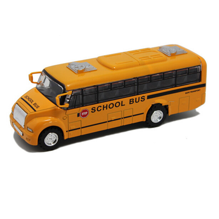 Large Size 1:32 Scale Yellow School Bus Kids Toys, New Style Alloy Bus Car Model Toys for Children Birthday Gift Free Shipping(China (Mainland))