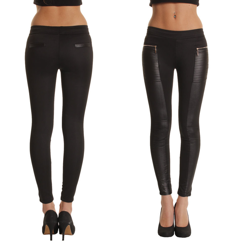 black pants with leather panels | Gommap Blog
