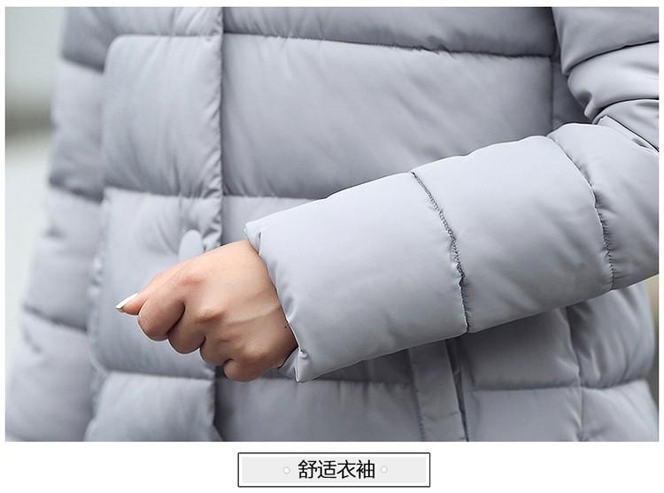 Скидки на Новые Пальто и Куртки 2016 С Капюшоном Зимняя Куртка Женщин Искусственного Меха воротник пальто зимы женщин Длинное Пальто 5-цветная плюс размер