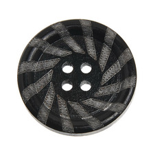 Wholesale 4 Holes 30pcs/lot Black Button Retro Buttons For Sewing Crafts Coat Muppet Accessories(China (Mainland))
