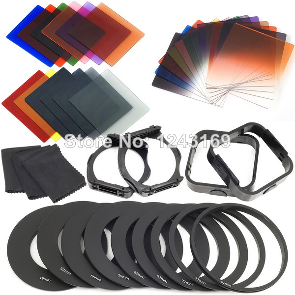 Complete Square Filter Kit for Cokin P Series + Filter Holder + Lens Hood LF141(China (Mainland))