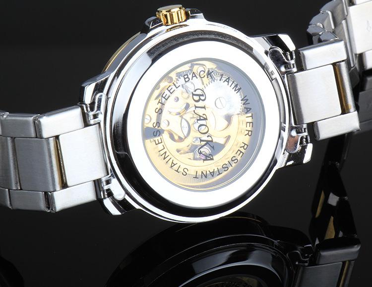2016 Новое Прибытие Марка BIAOKA watch100 м АТМ водонепроницаемый дайвинг Скелет Механические Наручные Часы Reloj Хомбре Montre Homme