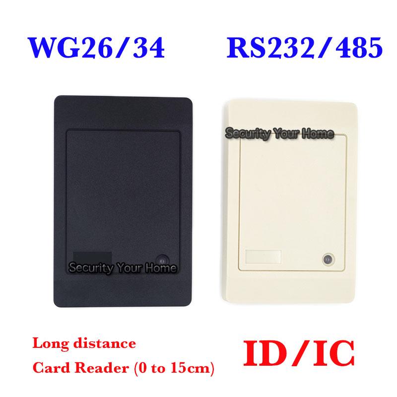 Proxi RFID Card Reader Without Keypad WG26/34 Access Control RFID Reader RF EM Door Access Card Reader Customized RS232/485(China (Mainland))