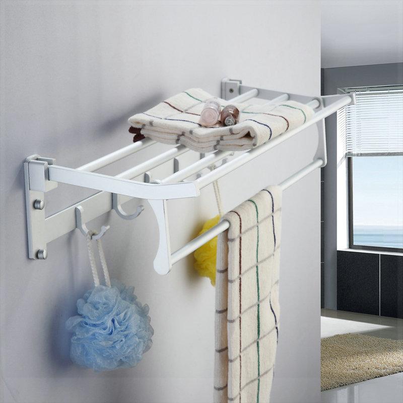 Space aluminum towel rack bathroom hardware towel rack classic towel bar shelf papel de parede listrado(China (Mainland))