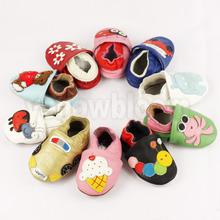 Cuir souple bébé garçons filles infantile chaussures pantoufles 0 - 6 6 - 12 12 - 18 18 - 24 nouveau Style première Walkers antidérapant en cuir enfants chaussures(China (Mainland))