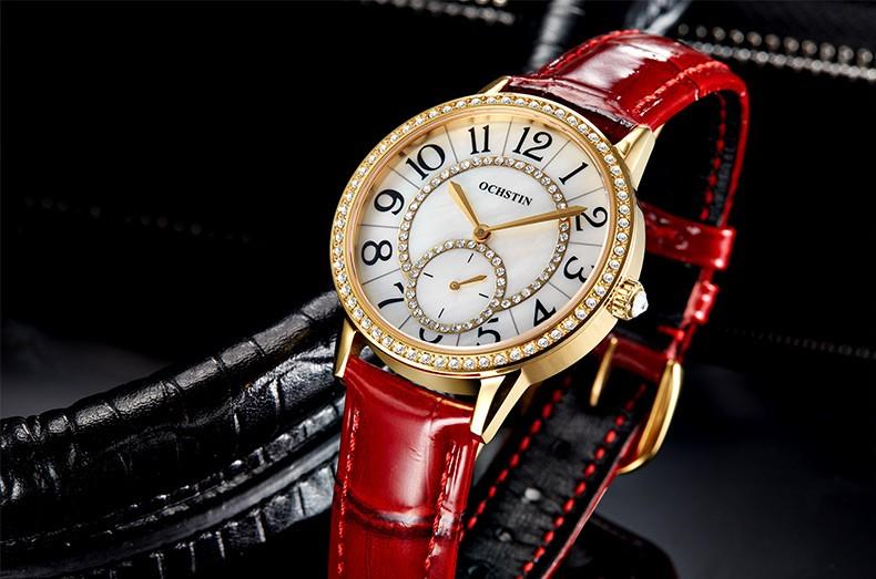 Часы Срок годности Женщины 2016 Новый Люксовый Бренд Ochstin Кварцевые Часы женская Мода Браслет Relogio Feminino