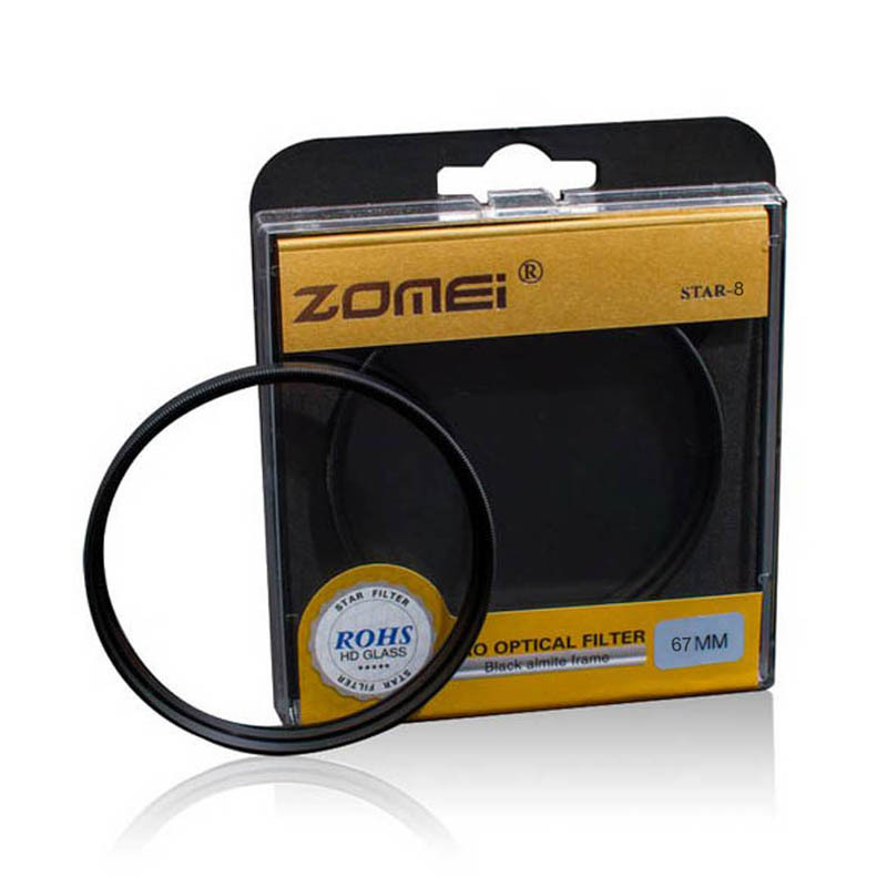 Premium Original Zomei 67mm Professional Star Filter 8 Line Piont 8PT for Canon Eos Nikon Sony Pentax Olympus DSLR Camera Lens(China (Mainland))